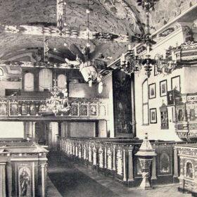Wnętrze kościoła w latach 30-tych XXw