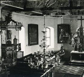 Wnętrze kościoła w latach 20-tych XXw.